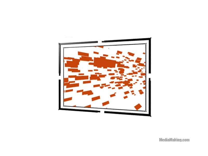 Schermo 427 cm x 275 cm 16:9 (proiezione frontale)
