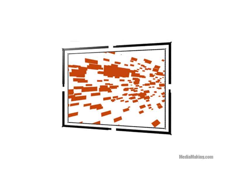 Schermo 427 cm x 320 cm 4:3 (retroproiezione)
